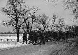 Czech POWs escorted by German soldiers 1938 (WFAC)