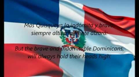 "Dominican National Anthem - ""Quisqueyanos Valientes"" (ES EN)"