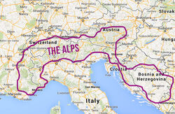 The-alps-map