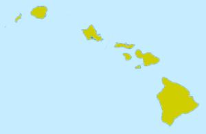 Карта Гавайи