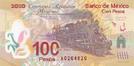 Billete $100 Mexico Centenario Anverso