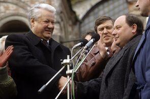 Борис Ельцин и Егор Гайдар в 1992