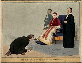 Карикатура на О'Коннора и лорда Рассела