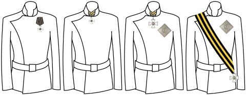 Орден св Георгия ношение