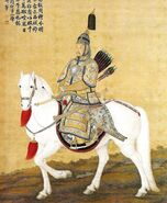 Armoured Kangxi Emperor