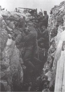 Австрийские войска в окопах