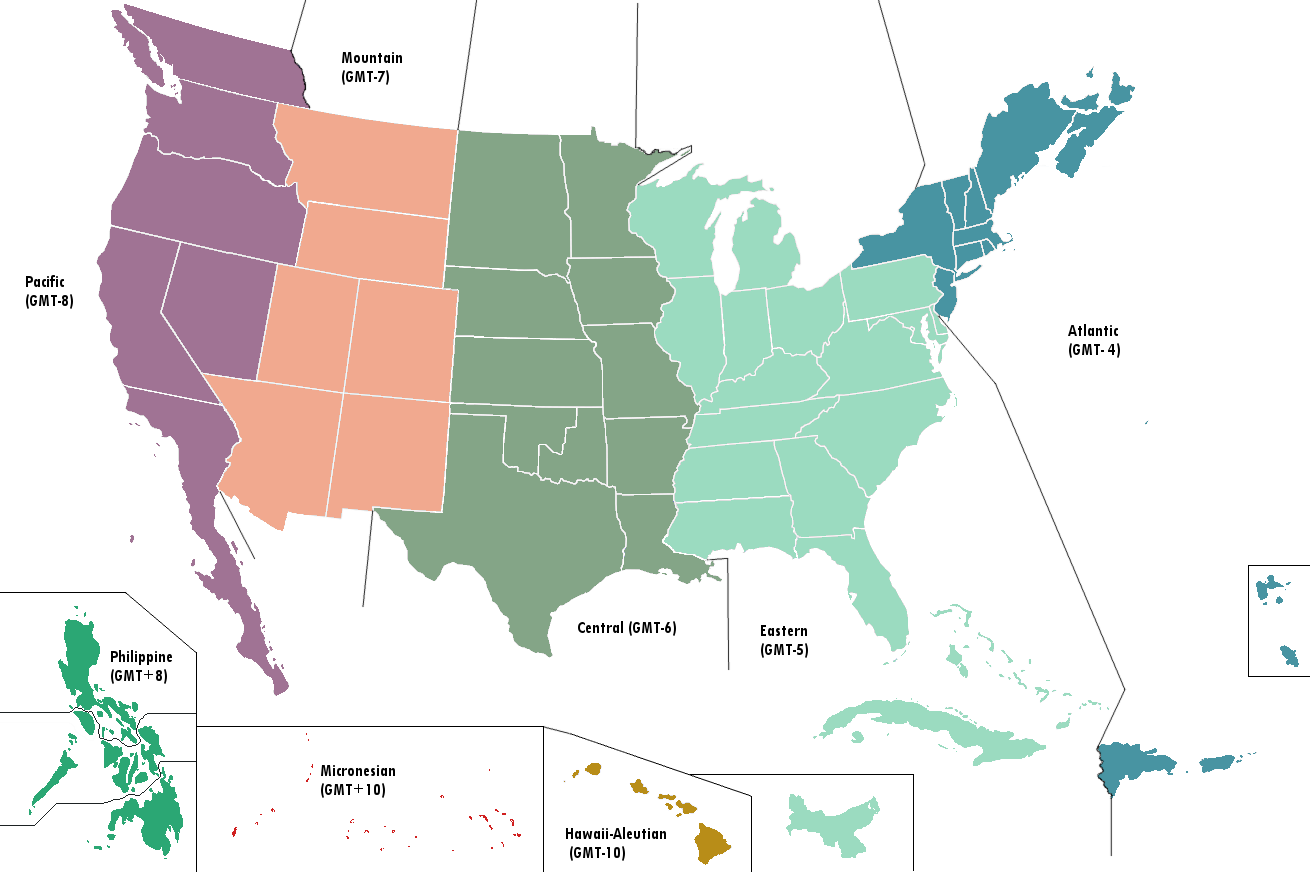 Image - United States map - Time zones (Alternity).png | Alternative ...