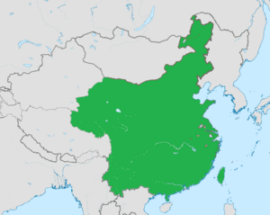 Китайская республика карта