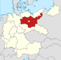 Locator map Brandenburg in Germany (IM)