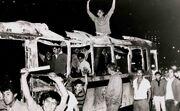 Protestas México 1968 camion quemado