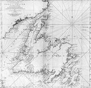 Cooks Karte von Neufundland
