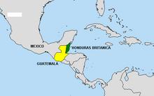 Honduras Británica mapa
