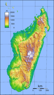 Madagascar location map relief