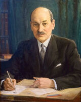 Clement Attlee by George Harcourt, 1946