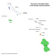Map of the West Indies (Russian America)