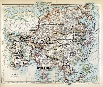 Map of Asia 1915