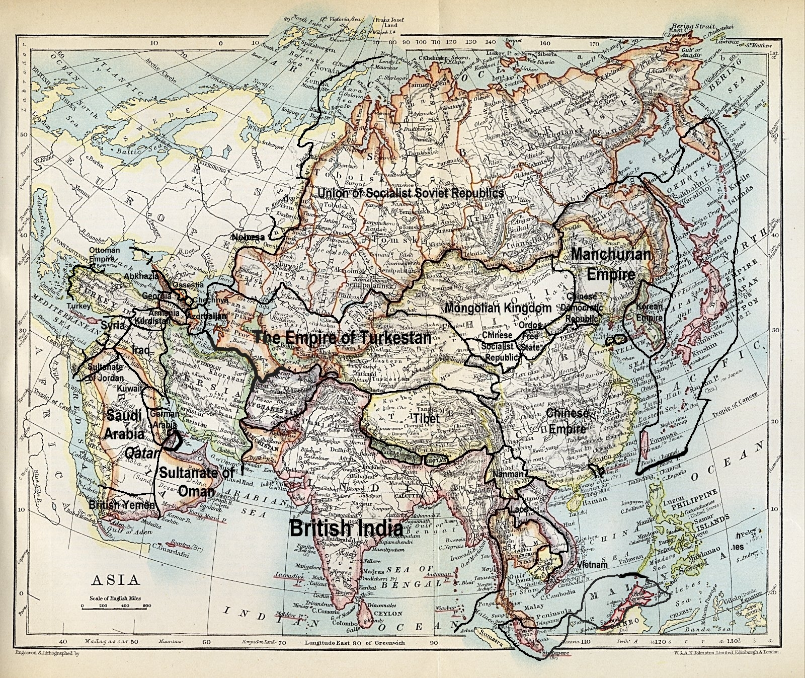 Image map of asia 1915g alternative history fandom powered map of asia 1915g gumiabroncs Image collections