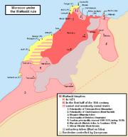 Wattasids - Simplified map