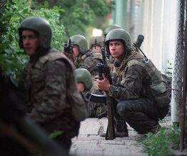 Российские военные готовятся к штурму