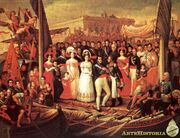 Fernando VII embarcando hacia america