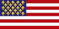 Flag of New France (Fidem Pacis)