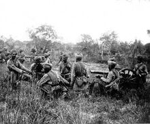 Indian soldiers fighting in 1947 war