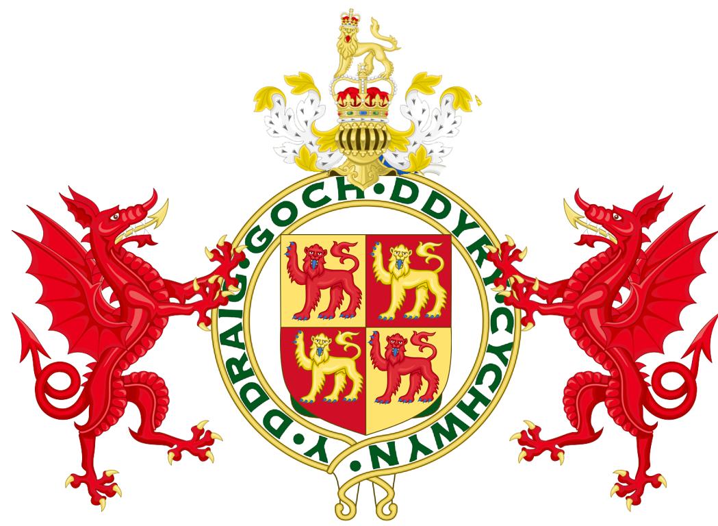 Principality of wales 1983 doomsday alternative history flag coat of arms buycottarizona