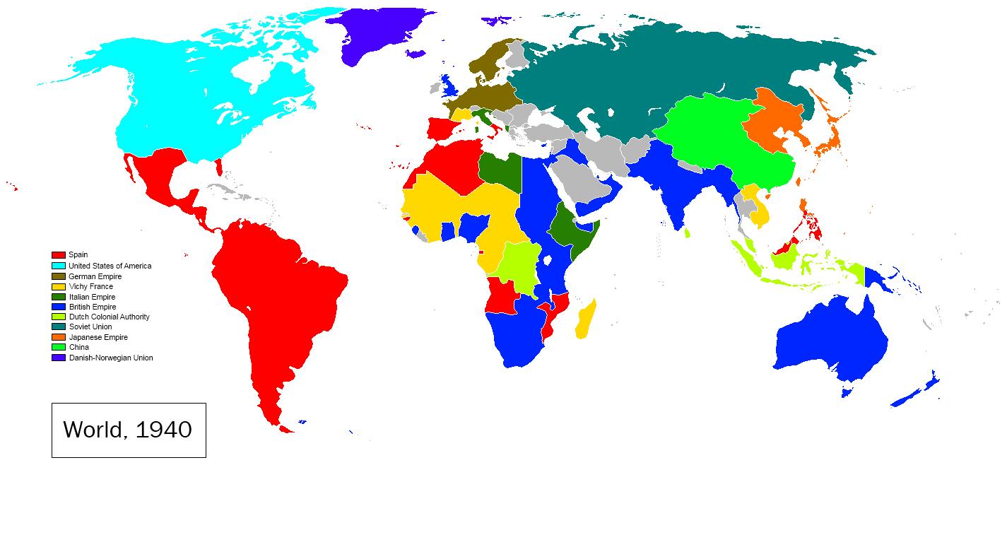 Image   World Map 1940(EoF).png | Alternative History | FANDOM