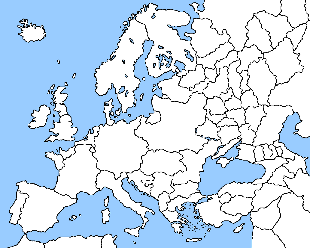 Picture of: Blank Map Of Europe No Borders For Paint