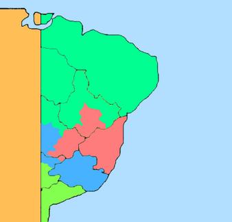 Mapa da América Portuguesa pós-Independência