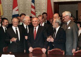 Подписание соглашений по объединению Германии
