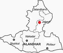 Jalandhar mapa