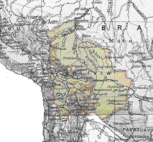 Bolivia 1910 mapa