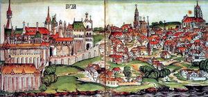 La ciudad de Buda en la Edad Media.