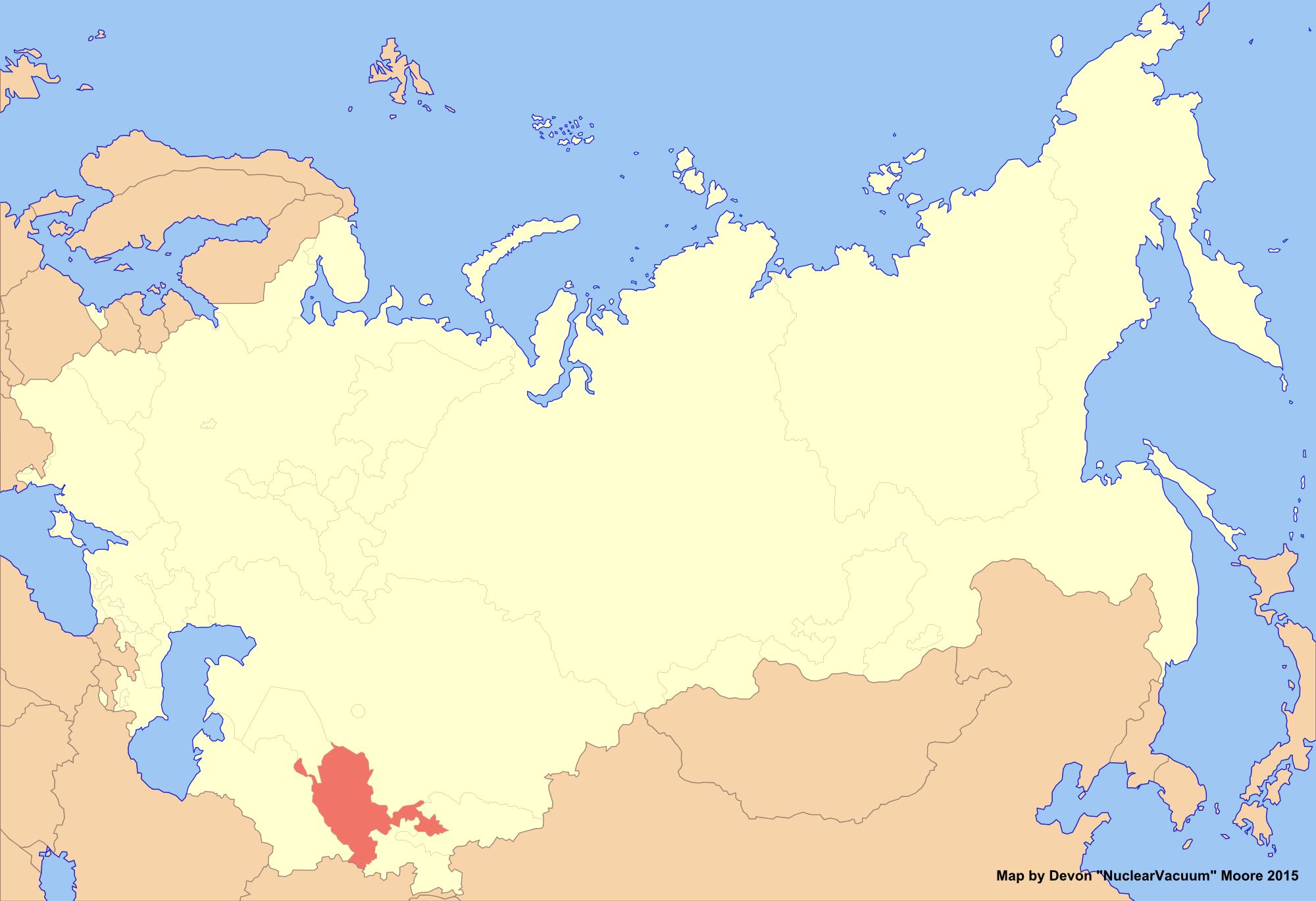 Image Location Of Uzbekistan New Unionpng Alternative - Uzbekistan map png