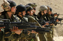 Middle east women soldiers