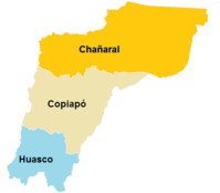 Provincias de la Region de Atacama (CNS)