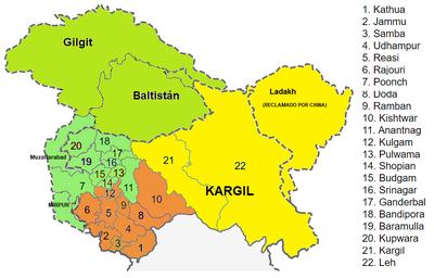 Jammu & Kashmir 1911 mapa