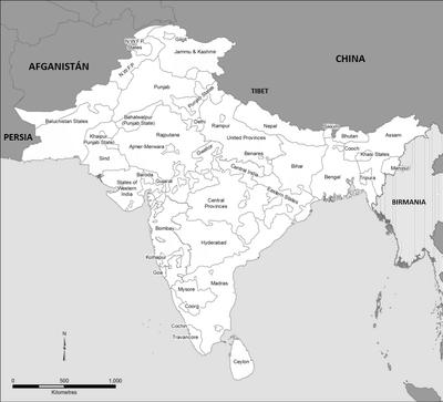 India Británica división política