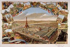 Открытка времен Парижской выставкой