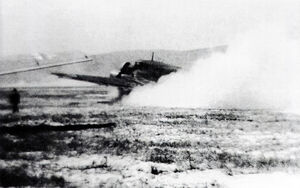Junkers Ju 52 on fire Battle of Bruntal (WFAC)