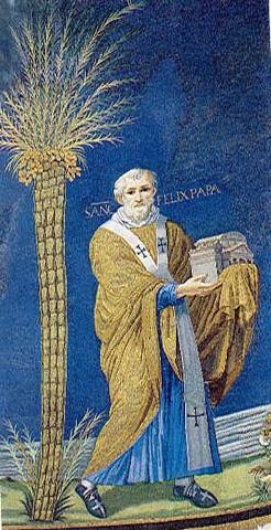 File:Mosaic of Felix IV (III) in Santi Cosma e Damiano, Rome, Italy (527–530).jpg