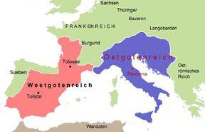 Ostgotenreich-Westgotenreich