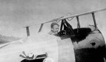 Quentin Roosevelt in Nieuport trainer