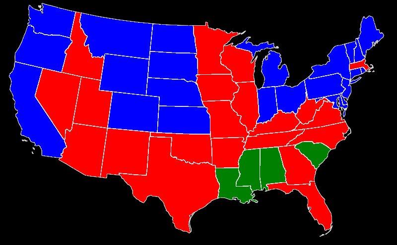 1948 State Map Dewey Elected