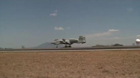 A-10 Warthogs Landing Clark Air Base