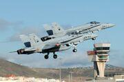 2 Spanish EF-18 Hornet during Operation Maghrebian Wind