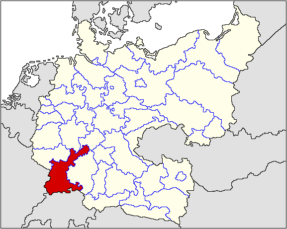 Administrative divisions of Nationalist Germany Central Victory