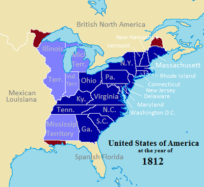 División Territorial EUA 1812 Especificado