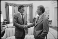 Jimmy Carter with Senator Edward Kennedy - NARA - 180108.tif